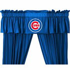Chicago Cubs Drapes Curtains & Valance Set with Tie Backs
