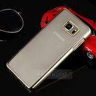 For Samsung Galaxy Note 5 Gold Chrome  Clear Transparent Back Case Cover SKin