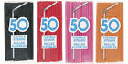 50 x Flexible Plastic Straws Party Birthday Wedding Food Loot Gift Bag