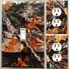 Tree Leaves Camouflage Light Switch wall plate covers bedroom man cave decor