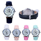 5 Colors Women Swirl Pattern Leather Strap Watch Quartz Sports Girl Wrist Watch