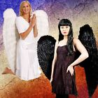 ADULT LADIES EXTRA LARGE XL 120CM FEATHER ANGEL WINGS FANCY DRESS COSTUME OUTFIT