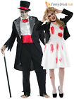 Mens Ladies Corpse Groom Bride Zombie Halloween Fancy Dress Couples Costume