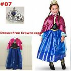 KIDS Girl Dresses Frozen Anna Costume Outfit Princess party dresses SIZE 3 to 8T