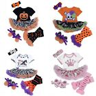 Baby Girls Headband+Top Romper Dress+Leg Warmer+Shoes Chrismas Party Costumes Se