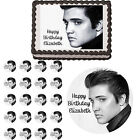 Elvis Presley Edible Birthday Cake Cupcake Cookie Party Topper Decoration