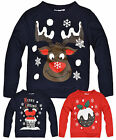 Kids Unisex Christmas Jumpers New Novelty Kids Xmas Cosy Sweatshirts 7-13 Years