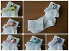 L@@K! Cute Girls Frilly Occasion Socks! Triple Rose Detail Various Colours & Sz