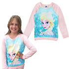 Girls Long Sleeved Top Official Disney Frozen T Shirt Childrens Elsa Sweatshirt