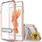 OBLIQ® iPhone 6s / 6 s Plus[Naked Shield] Clear Dual Hard Case Metal Kick stand