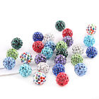 20Pcs Crystal Pave Clay Round Disco Ball Spacer Round Beads Jewelry 6mm-12mm