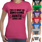 THIS IS WHAT AN AWESOME AUNTIE LOOKS LIKE T SHIRT - BEST AUNT GIFT PRESENT XMAS