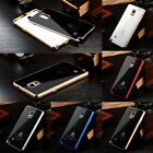 Aluminum Metal Frame Tempered Glass Back Case Cover For Samsung Galaxy Note4@#AA