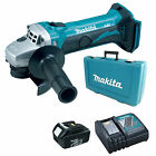 MAKITA 18V LXT BGA452 BGA452Z ANGLE GRINDER  1 x BL1830, 1 x DC18RC AND CASE
