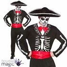 MENS ADULT DAY OF THE DEAD SPANISH MEXICAN HALLOWEEN FANCY DRESS COSTUME