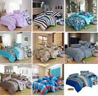New Luxury Soft 100% Cotton Bedding Doona Duvet Cover Set And Pillowcase 9 Style