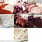 Luxury Vintage Floral Jacquard Double King Size Duvet Cover Set Shabby Chic