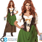 LADIES ADULT TAVERN MAIDEN FANCY DRESS COSTUME MEDIEVAL MAID WENCH OUTFIT