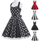 New Women VINTAGE 50s Retro Rockabilly Pinup Housewife Swing Party Evening Dress