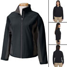 Devon & Jones Women's 3 Season Rain Softshell Jacket Fleece Lined Black/Gray