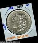 BETTER DATE 1880   SILVER MORGAN HIGHER GRADE+++  U.S. MINT COIN  C 1618