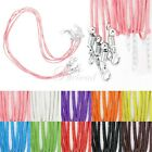 10pcs Fashion Cotton Cord Wire Necklace Lobster Clasp Jewellry Making 450mm