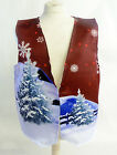 RED SANTA SLEIGH DESIGN 1 WACKY WAISTCOAT FUN & FANCY L&S PRINTS