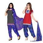 Triveni Pretty Printed Polyester Salwar Kameez With Two Tops