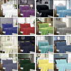1000TC Ultra Soft 4ps/3pc Flat & Fitted Sheet Set Queen/King/Super King Size Bed