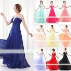 Lady Elegant Chiffon Evening Formal Party Ball Gown Prom Bridesmaid Long Dress