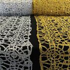 Sequin Lace Corded Fabric Metallic Great For Tablecloths Apparel Sewing