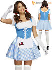 Size 8-18 Adult Ladies Sexy Dorothy Fancy Dress Wizard Of Oz Womens Costume