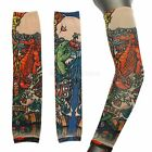 Cool Man Women Temporary Tattoo Sleeves Full Arm Stockings Goth Punk Style New