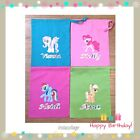 PERSONALISED MY LITTLE PONY GIFT PARTY HAPPY BIRTHDAY COTTON DRAWSTRING BAG XMAS