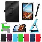 Leather Case Cover + 3pcs Screen Protector For Verizon Ellipsis 8 4G LTE Tablet