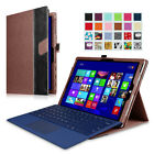 Microsoft Surface Pro 3 Tablet Leather Case Cover with Stand Holder 12-inch