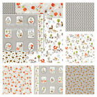 STUDIO E - GENTLE FOREST - SNAILS HEDGEHOGS FOREST FRIENDS DEER RABBITS GREY