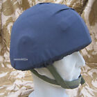 BRITISH ARMY SURPLUS BLUE MEDIA CORRESPONDENT HELMET COVER,MK.6 KEVLAR OR PARA