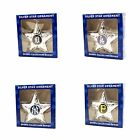 MLB Teams Silver Star Christmas Ornament - Pick Your Team