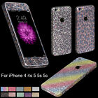 Beauty Glitter Bling full Body Decals Sticker Protect case for iPhone 4s 5 5s 5c