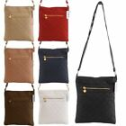 Ladies Classic Faux Leather Quilted Cross Body Shoulder Handbag Bag New