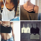 Sexy Women Cut Out Bra Crop Bustier Bralette Corset Tops Strappy Tank Top Blouse