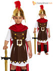 Boys Roman Soldier General  Nativity Play Kids Fancy Dress Costume Outfit Greek