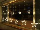Warm White 12 Twinkling Star Christmas Fairy String Lights Window Display 48 LED