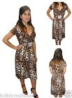 LADIES WOMANS LEOPARD PRINT SEXY EVENING CHRISTMAS NEW YEAR PARTY DRESS 8-26 UK