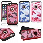 """Hybrid Rugged Rubber Bling Crystal Camo Case Cover For iPhone 6 6s Plus 5.5 4.7"""""""
