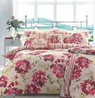Appletree® ELENI DUVET COVERS QUILT SET 100% COTTON FLORAL PINK