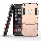 For Apple iPhone 5 5S 6 6s 7 Plus Hybrid Armor Impact stand Case Iron Man Cover