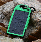 Waterproof 5000mAh Solar Battery Charger Universal 2 USB Power Bank Cell Phone