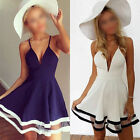Women Summer Strap Bodycon Clubwear Cocktail Evening Party Skater Mini Dress